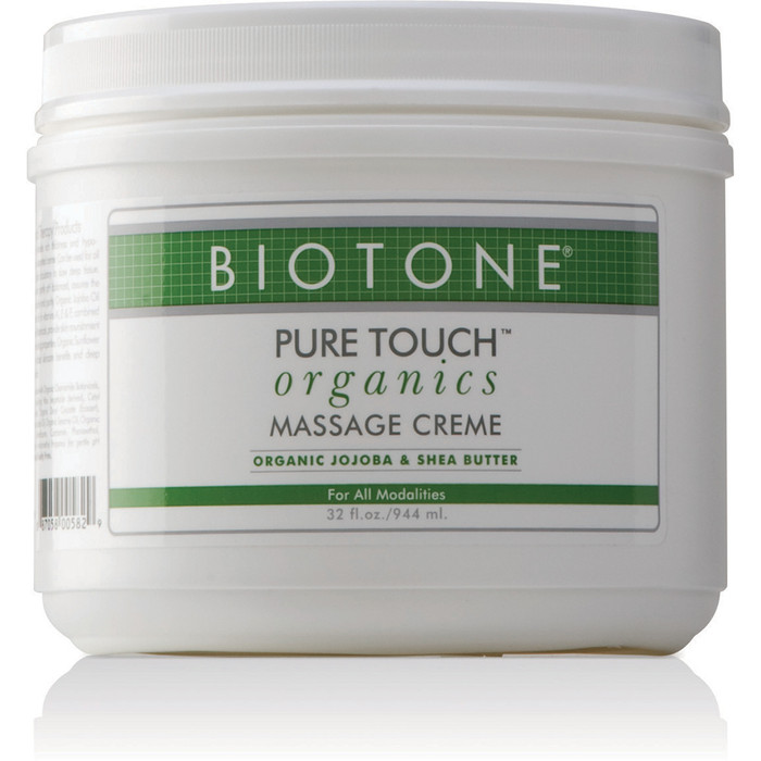 PURE TOUCH ORGANICS MASSAGE CREME 32 OZ JAR
