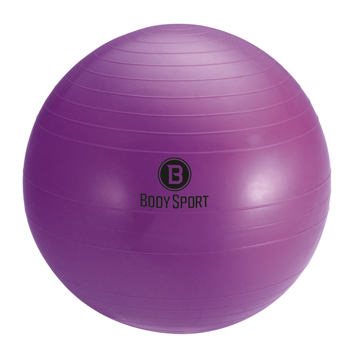"BODY SPORT 45 CM (BODY HEIGHT 4'7"" - 5') FITNESS BALL (EXERCISE BALL), PURPLE"