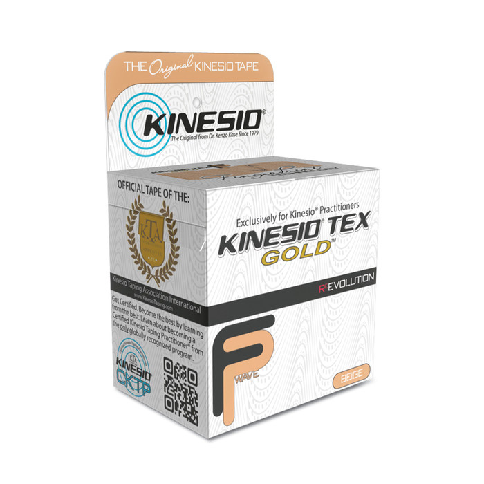 "KINESIO TAPE TEX GOLD FP, 2"" X 16.4', NEUTRAL"