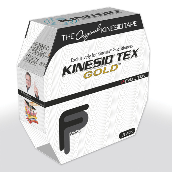 "KINESIO TAPE TEX GOLD FP, BULK 2"" X 103.3', BLACK"