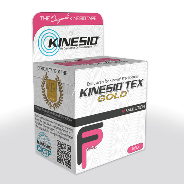 "KINESIO TAPE TEX GOLD FP, 2"" X 16.4', RED"
