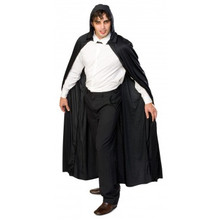 Cape Adult Long Hooded - Black