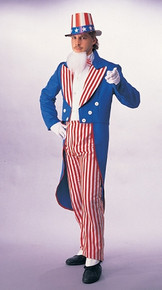 Uncle Sam 4th of July Patriotic Men's Costume