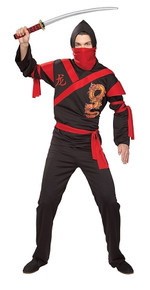 Dragon Ninja Warrior Men's Costume