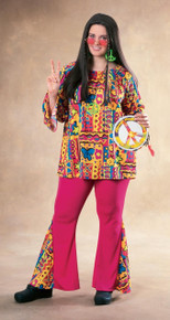Big Mama Plus Size Hippie Costume