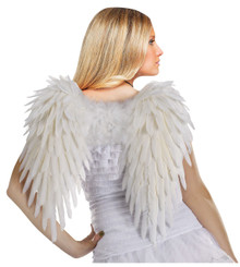 Angelic White 3D Feather Wings