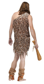Caveman Costume Adult with Tunic & Plush Shin Wraps