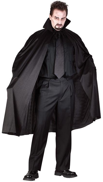 45 black cape with small collar polester for Small cape