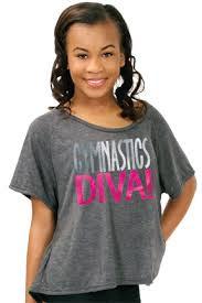 Gymnastics Diva Flowy Lace Heart Tee