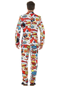 Comic Strip Suit, Pant, Tie