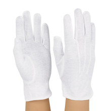 White Nylon Wrist Length Military Style Stretch Gloves (NYL100)