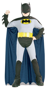 The Batman Original Child's Costume Black and Grey