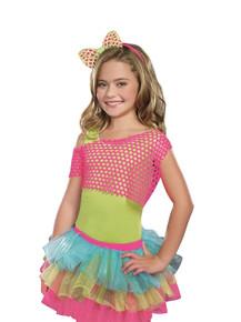 Girl's Neon Fishnet Crop Top (9595)