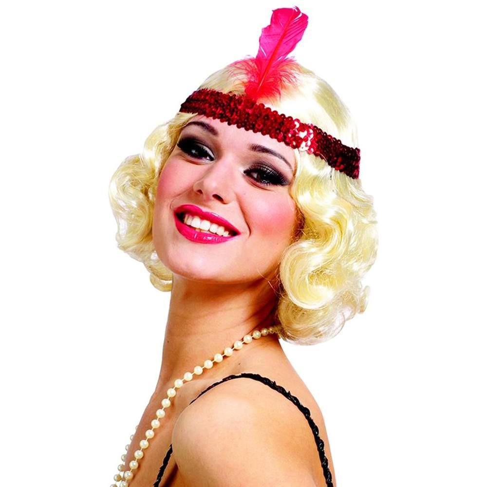 Woman, blonde flapper wig