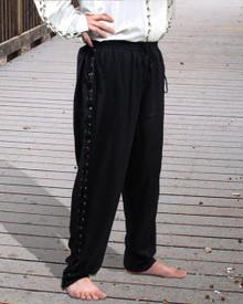 Lace-up Pirate Pants Black