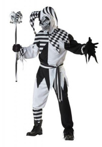 Nobody's Fool Adult Jester Costume Black & White