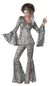 Foxy Lady Women's Disco Pants & Top Costume Set