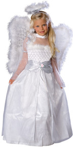 Rosebud Angel Girl's Costume w/ Wings & Halo