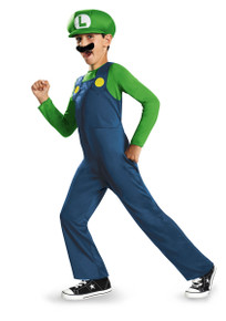 Super Mario Brothers Luigi Licensed Kids Costume