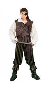 Caribbean Pirate Men's Costume Set