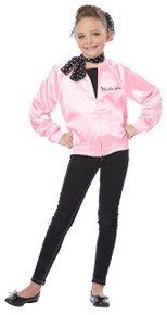 The Pink Satin Ladies Girl's Jacket & Scarf Set