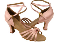 "Flesh Satin C Series Salsa Shoe w/ 2.5"" Heel"