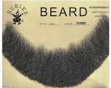 Beard 100% Human Hair with netting back