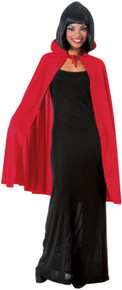 Adult Fabric Cape w/ Collar in Assorted Colors (850AS)