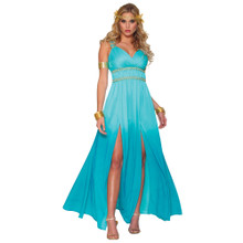 Aphrodite Blue Greek Style Goddess Dress