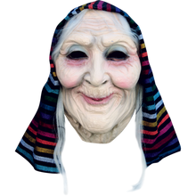Old Lady Mask with Headwrap