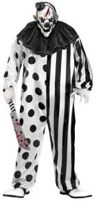 Killer Clown Costume & Mask Set Black & White