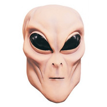 Alien Mask Beige Full Over the Head Latex Mask