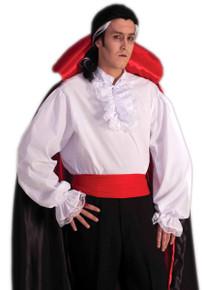 White Ruffle Shirt Colonial or Vampire