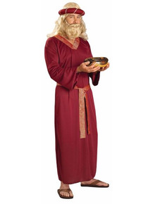 /wiseman-costume-adult-burgundy-biblical-times/