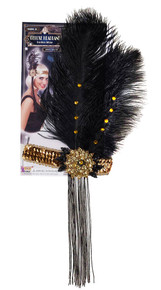 /gold-sequin-flapper-headpiece-w-black-feather-gold-stones/