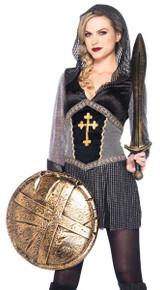 Renaissance Joan of Arc Dress w/ Chainmail Hood