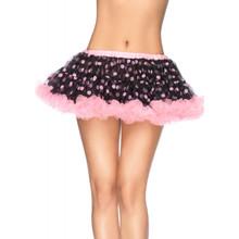 Chiffon Mini Petticoat w/ Polka Dots