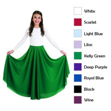 "Child's 35"" Long Circle Skirt w/ Elastic Waistband (0501BW)"