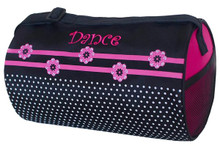 Dance Flower n Dots Small Duffel