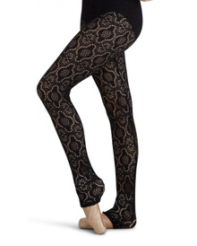 Black Lace Dance Tights Leggings