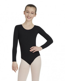 Capezio Childs Long Sleeve Leotard - Black