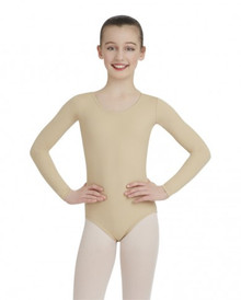 Capezio Childs Long Sleeve Leotard - Nude