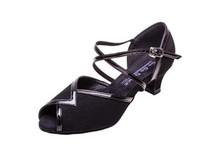 "Black Nubuck & Patent Trim Ballroom Shoe 1.3"" Heel (GO7280)"