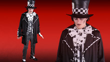 Alice Dark Mad Hatter Men's Plus Size