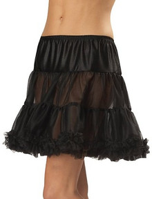 Black Ruffled Pettiskirt