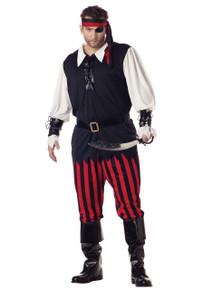 Cutthroat Priate Men's Plus Size Costume (01611CCC)