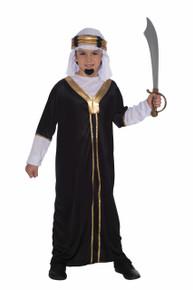 Sultan Costume Black & Gold Kids