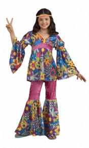 Flower Power Hippie Girl Costume Kids