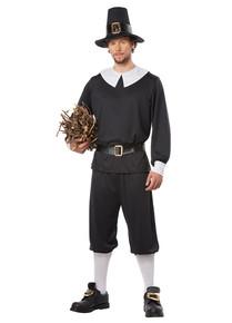 Adult Pilgrim Man Shirt, Pants, Hat & Buckle