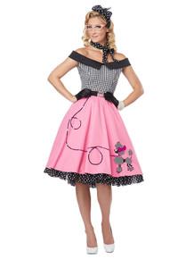 Nifty 50's Sock Hop Poodle Skirt Dress